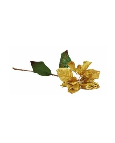 Haste Flor Amarelo c/ Pinhas - Amarelo - 67cm - DVC0191
