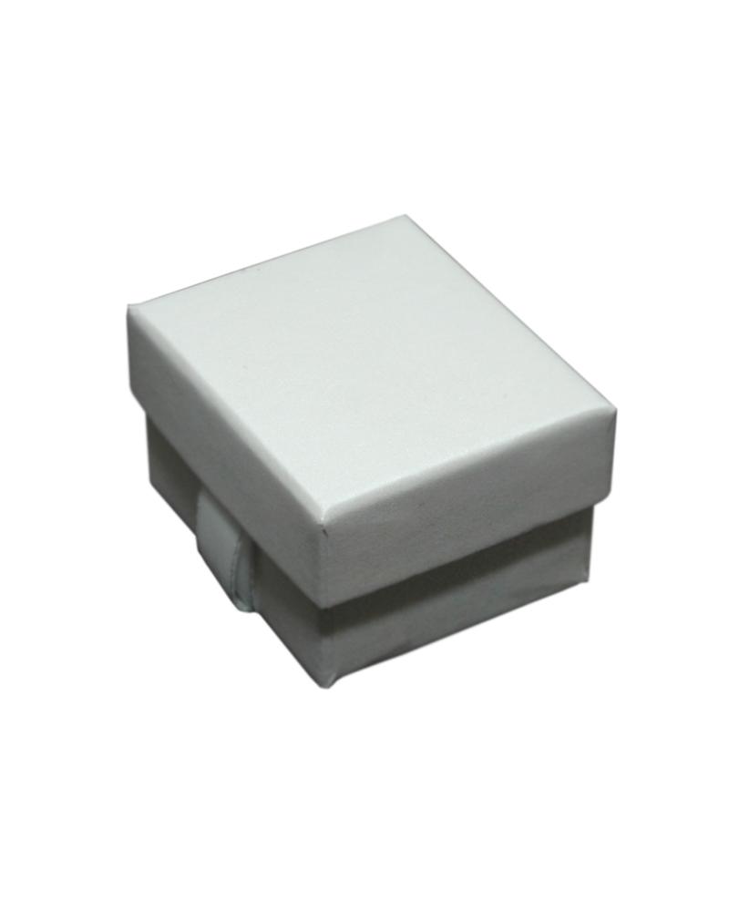 Caixa Linha Champanhe p/ Anel c/Fita - Branco - 5.5x4.5x3.2cm - EO0579