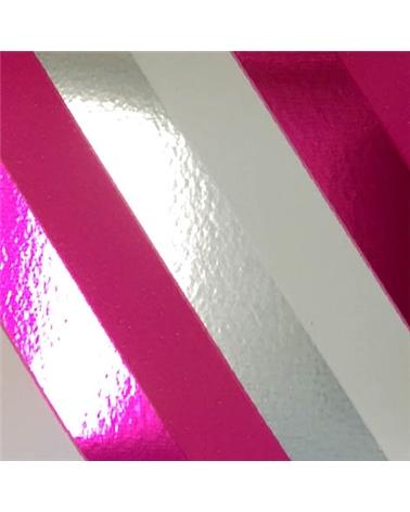Rolo Fita Metalizada Riscas Diagonais Fuxia 19mmx100mts - Fuxia - 19mmx100mts - FT5007