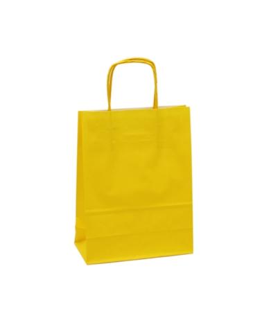 Saco Asa Retorcida Branco Liso Fundo Amarelo - Amarelo - 18+08x21 - SC3348