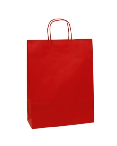 Saco Asa Retorcida Branco Liso Fundo Vermelho - Vermelho - 32+12x42 - SC3157