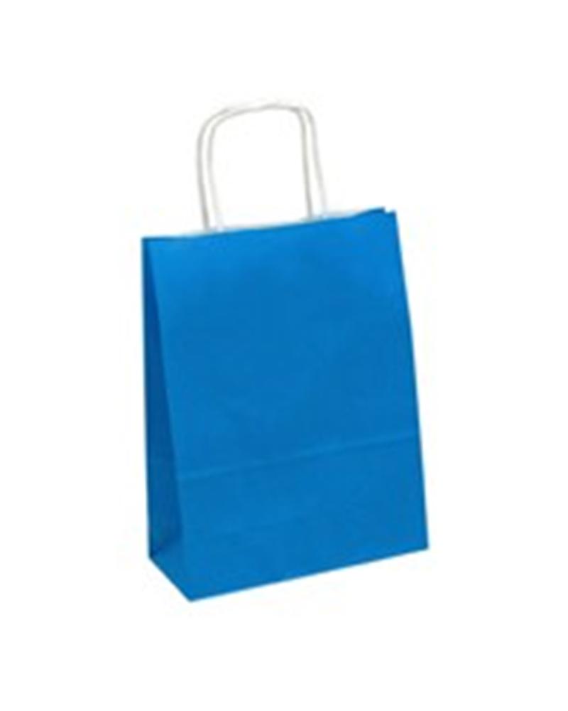 Saco Asa Retorcida Branco Liso Fundo Azul Claro - Azul Claro - 18+08x23 - SC0683