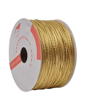 """Fita Cordão """"Tubolare"""" Ouro - Dourado - 100mts - FT1459"""