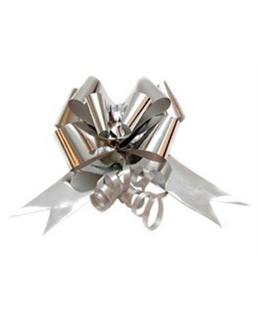Laço de Puxar Metalizado Prateado - Prateado - 31mm - LÇ1143