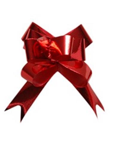 Laço de Puxar Metalizado Vermelho - Vermelho - 13mm - LÇ1190