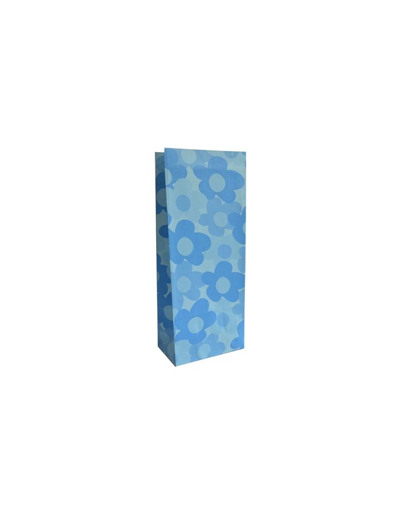 Sacos s/ Pala Azul c/ Flores 10x6x25 - Azul - 10x6x25cm - SC2522