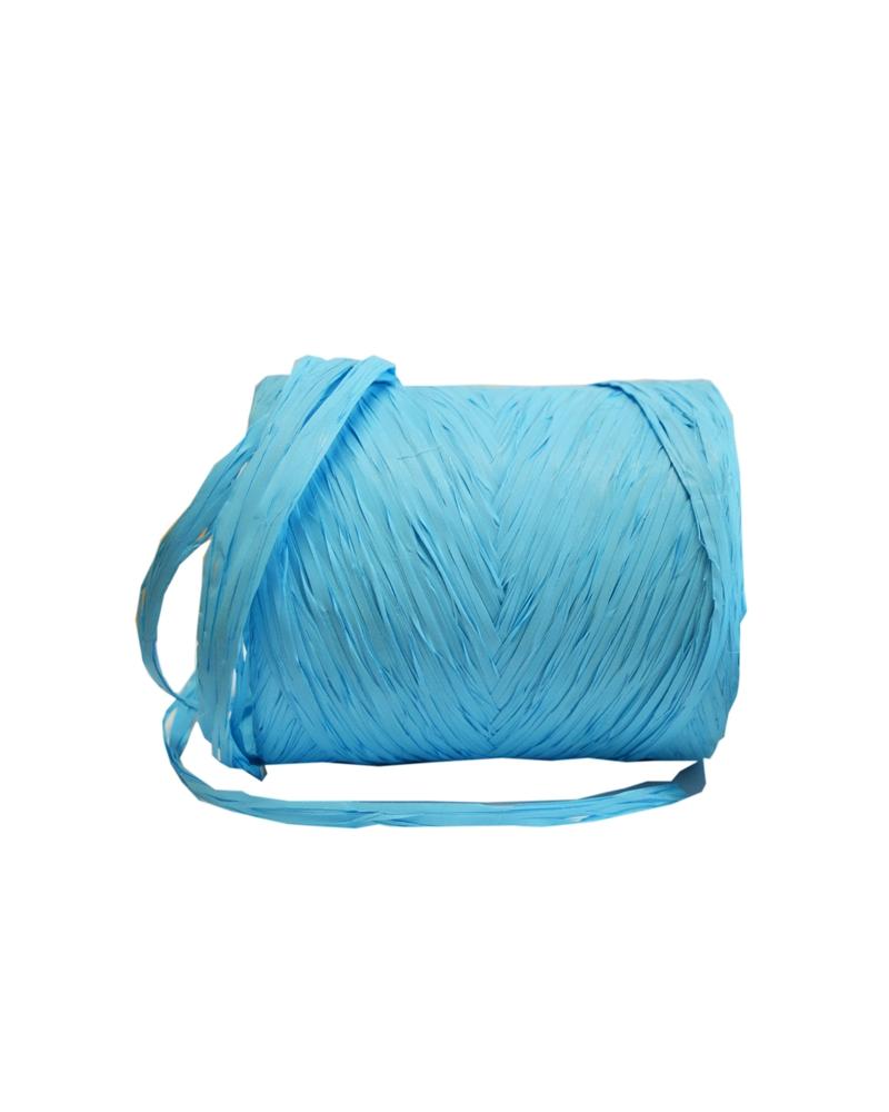 Rolo Fita Rafia Azul Claro - Azul Claro - 15mmx200mts - FT3299