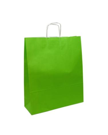 Saco Asa Retorcida Branco Liso Fundo Verde Claro - Verde Claro - 24+12x31 - SC3162