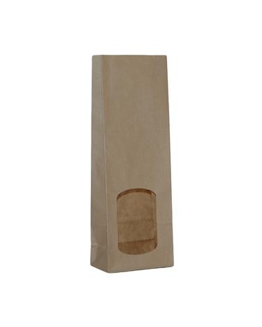 Saqueta em Kraft Verjurado c/ Janela&Revestimento Interno - Kraft Verjurado - 10+06x29 - ASC0119