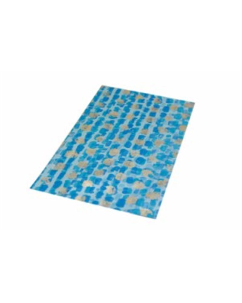 Saco c/ Pala Polipropileno Azul/Dourado 15x25cm - Azul/Dourado - 15x25cm - SC2414