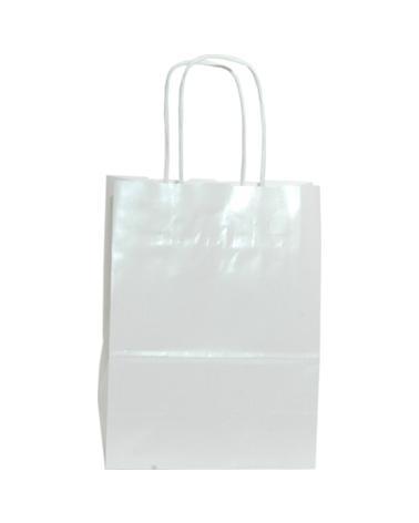 Saco Asa Retorcida Branco Fundo Branco Perola - Branco - 15+08x20 - SC3224