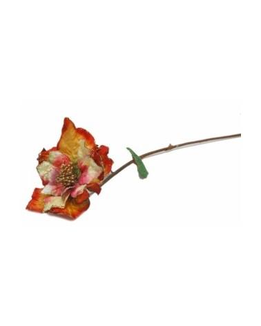 Haste Flor Petala Organza Verde/Rosa - Verde - 90cm - DVC0197