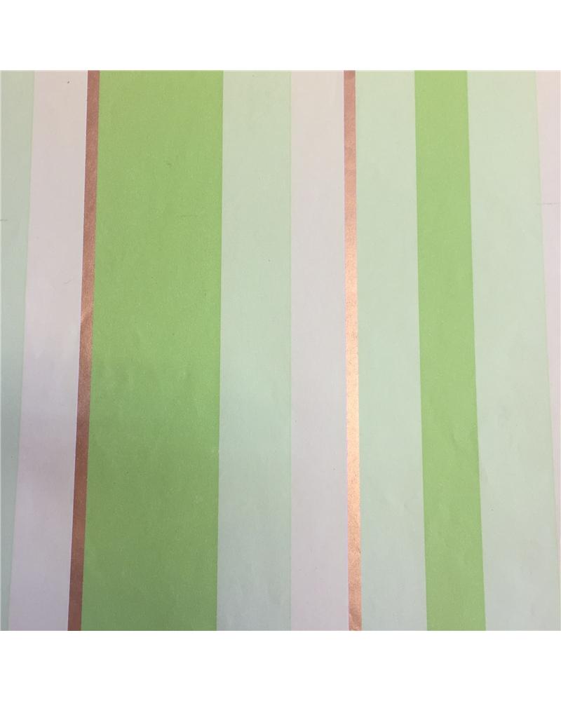 Papel Reciclado Listado Verde/Dourado - Verde/Dourado - 70x100cm - PP2646