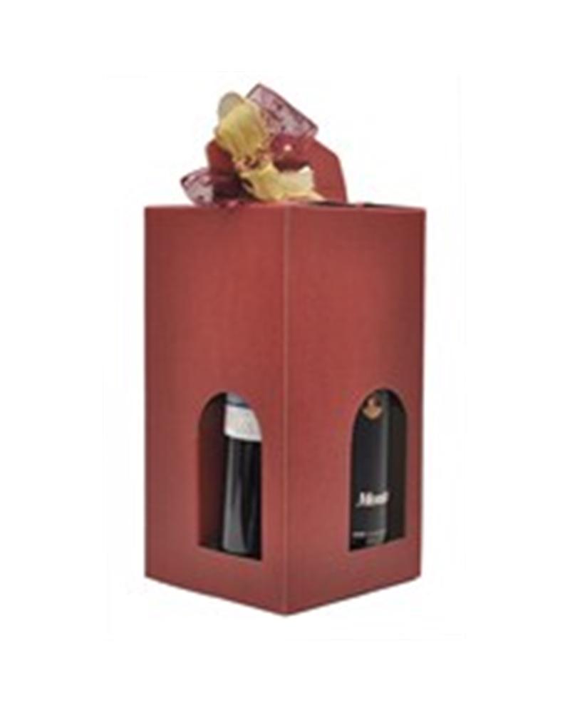 Caixa Seta Bordeaux Scatola para 4 Garrafas - Bordeaux - 180X180X340mm - CX1329