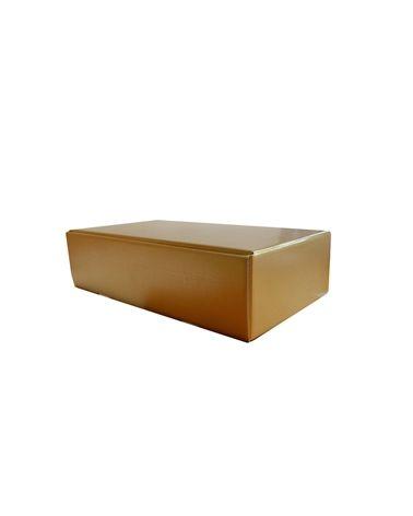 Caixa Seta Oro Cantinetta para 2 garrafas - Dourado - 340x185x90mm - CX1625