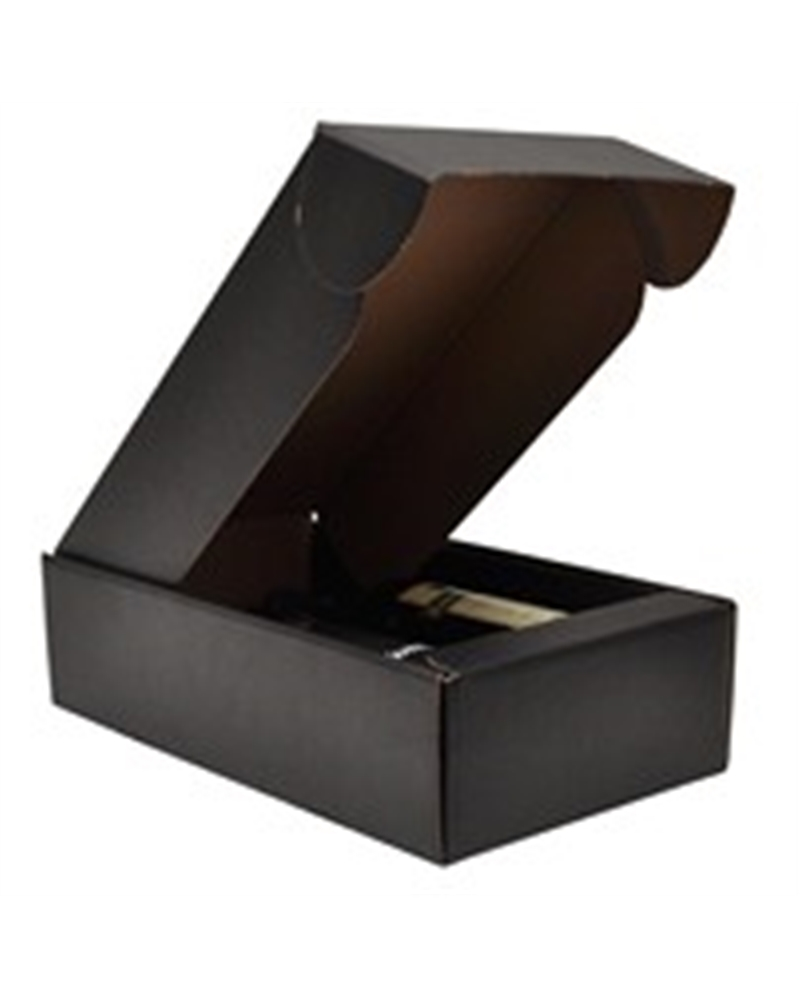 Caixa Seta Nero Cantinetta para 2 Garrafas - Preto - 340x185x90mm - CX2335