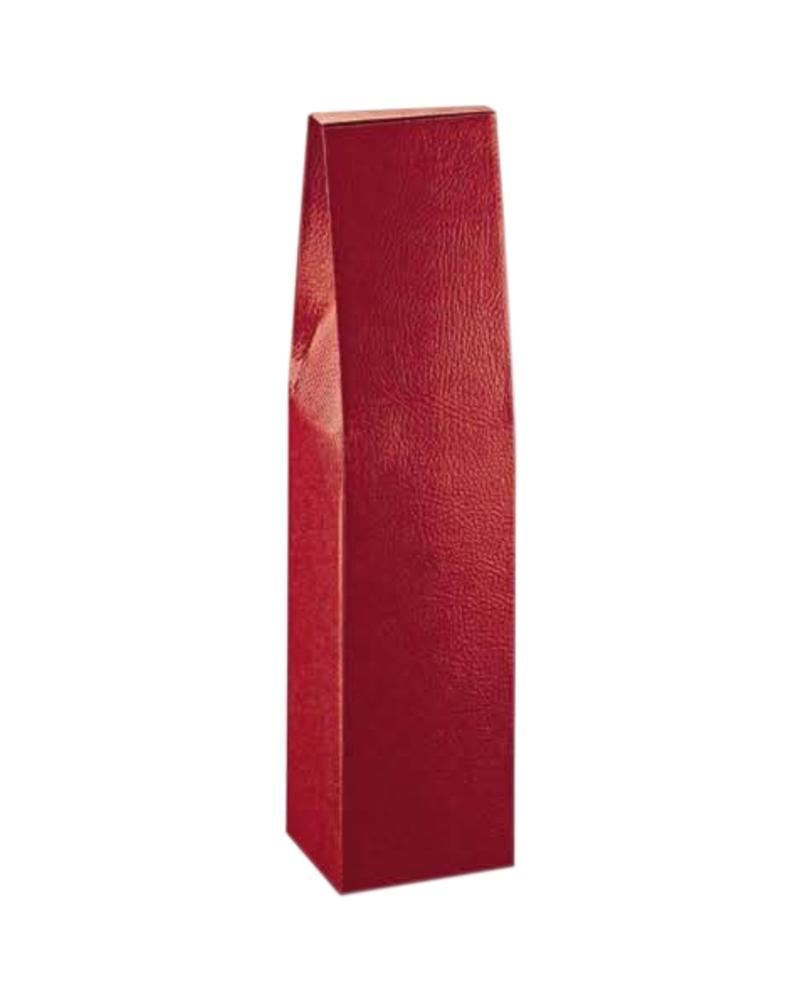 Caixa Pelle Bordeaux Scatola para 1 Garrafa - Bordeaux - 90x90x370mm - CX3628