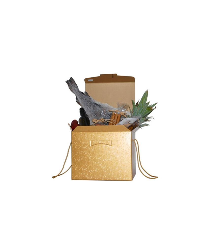 Caixa Sfere Oro Segreto c/Cordini - Dourado - 300x300x240mm - CX3759