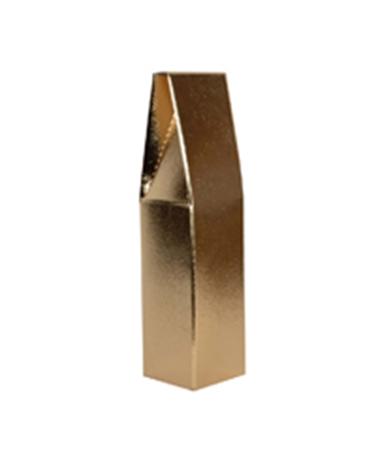 Caixa Pelle Oro Scatola para 1 Garrafa - Dourado - 90x90x370mm - CX3261
