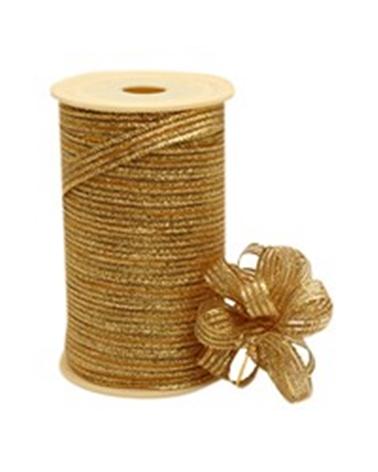 Fita Tecido c/ Tirante Riscas Ouro 10mmx25mts - Dourado - 10mmx25mts - FT4068