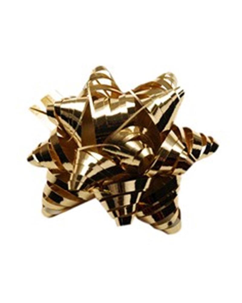 Laço Rafia Metal c/Autocolante Ouro - Dourado - 15mm - LÇ0567