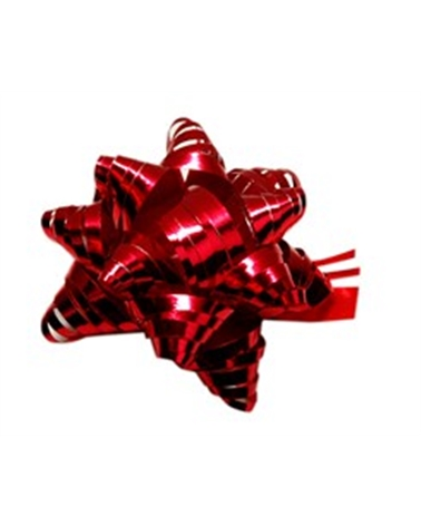Laço Rafia Metal c/Autocolante Vermelho - Vermelho - 15mm - LÇ0565