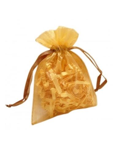 Saco Organza Dourado - Dourado - 7.5x10cm - EO0457