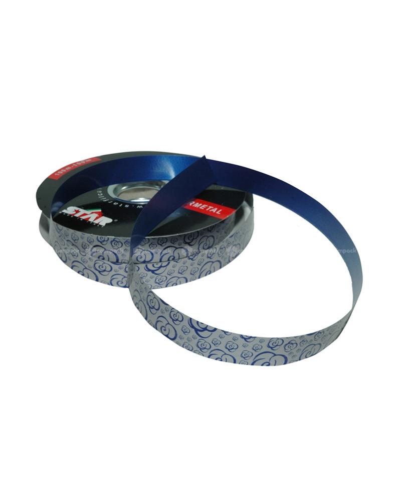 FT4833 | Fitas | Ruban Métallisé Rosete Bleu 19mm