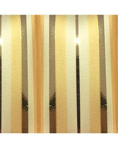 """Rolo Fita Metal.""""Righe"""" Dourado/Cobre com Riscas 19mm 100Mts - Dourado/Cobre - 19mmx100mts - FT2455"""