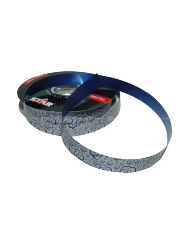 Rolo Fita Metalizada Rosete Azul 19mm - Azul - 19mmx100mts - FT4833