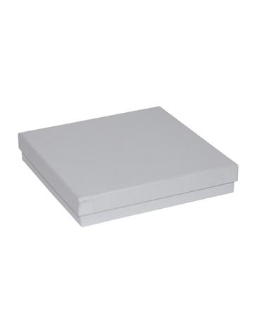 Caixa Linha Perola Branca p/ Colar - Branco - 16x16x3cm - EO0695