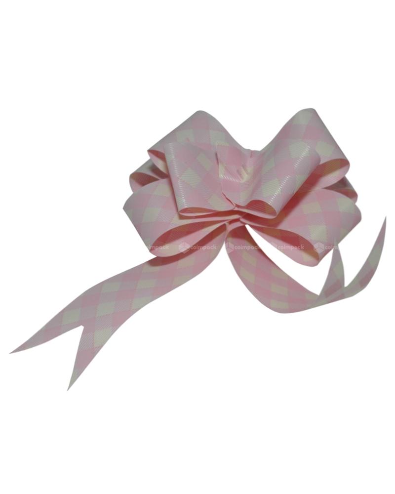 Laço de Puxar Rosa Xadrez Brandy 31mm (c/100) - Rosa - 31mm - LÇ0641