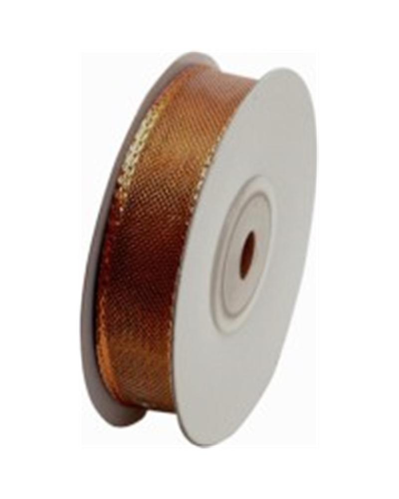 Fita Organza Metalizada Bronze 20mm - Bronze - 20mmx10mts - FT3663