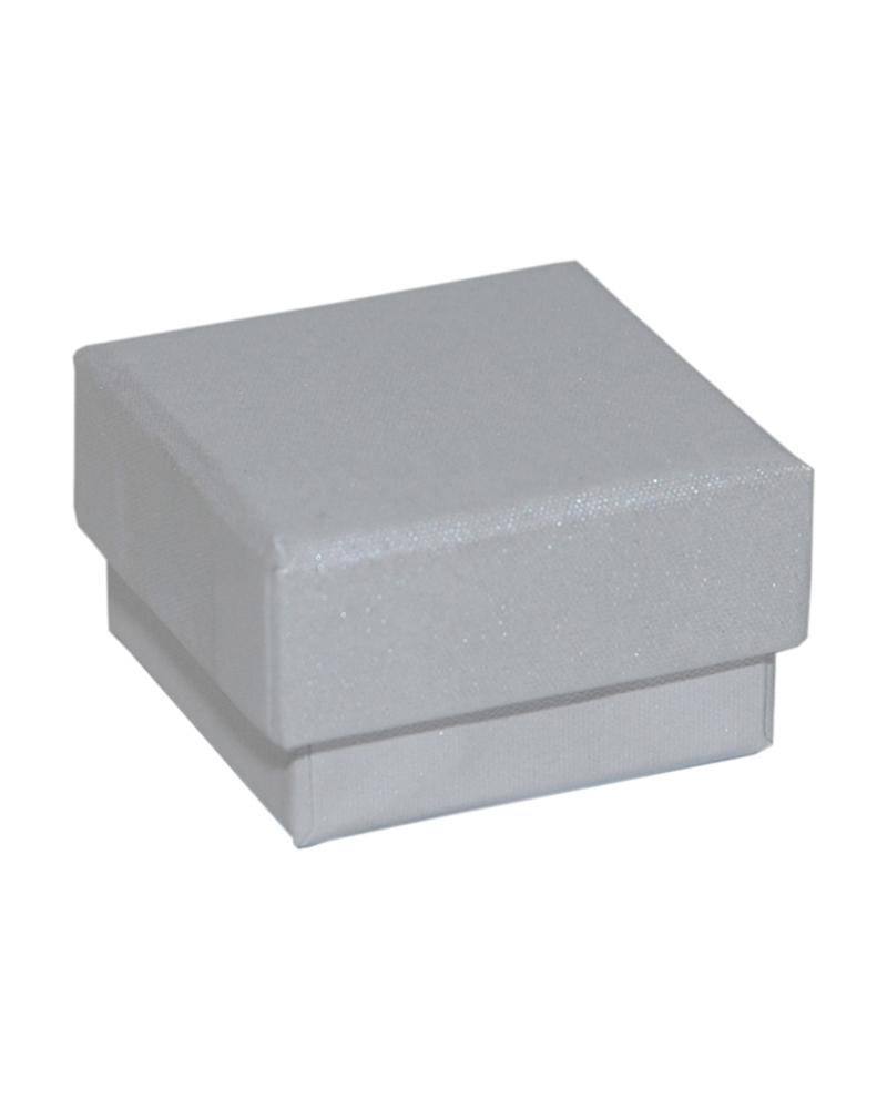 Caixa Linha Perola Branca p/ Brincos - Branco - 4.6x4.6x2.6cm - EO0675