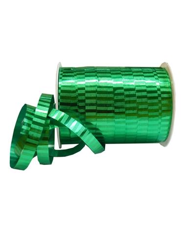 "Rolo de Fita Metalizada ""Malaga"" Verde 10mm - Verde - 10mmx250mts - FT1131"