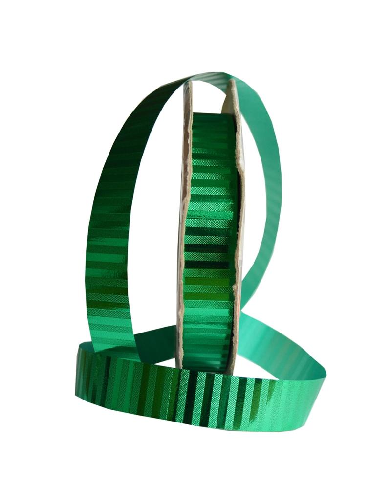 "Fita Metalizada ""Malaga"" Verde 19mm 100mts - Verde - 19mmx100mts - FT1135"