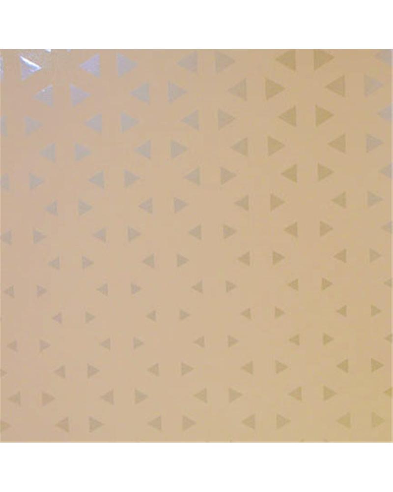 Papel Reflex c/Triangulos Prateados - Prateado - 70x100cm - PP2845