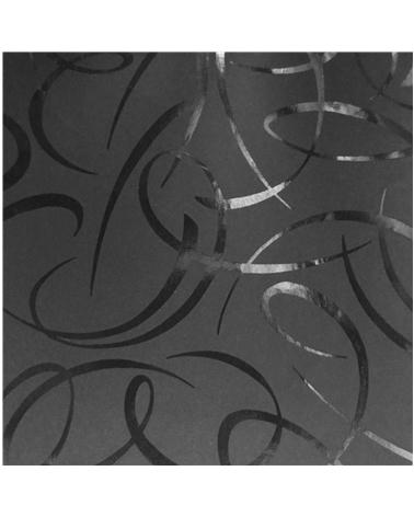 Papel Reflex Preto c/Arabescos - Preto - 70x100cm - PP2284