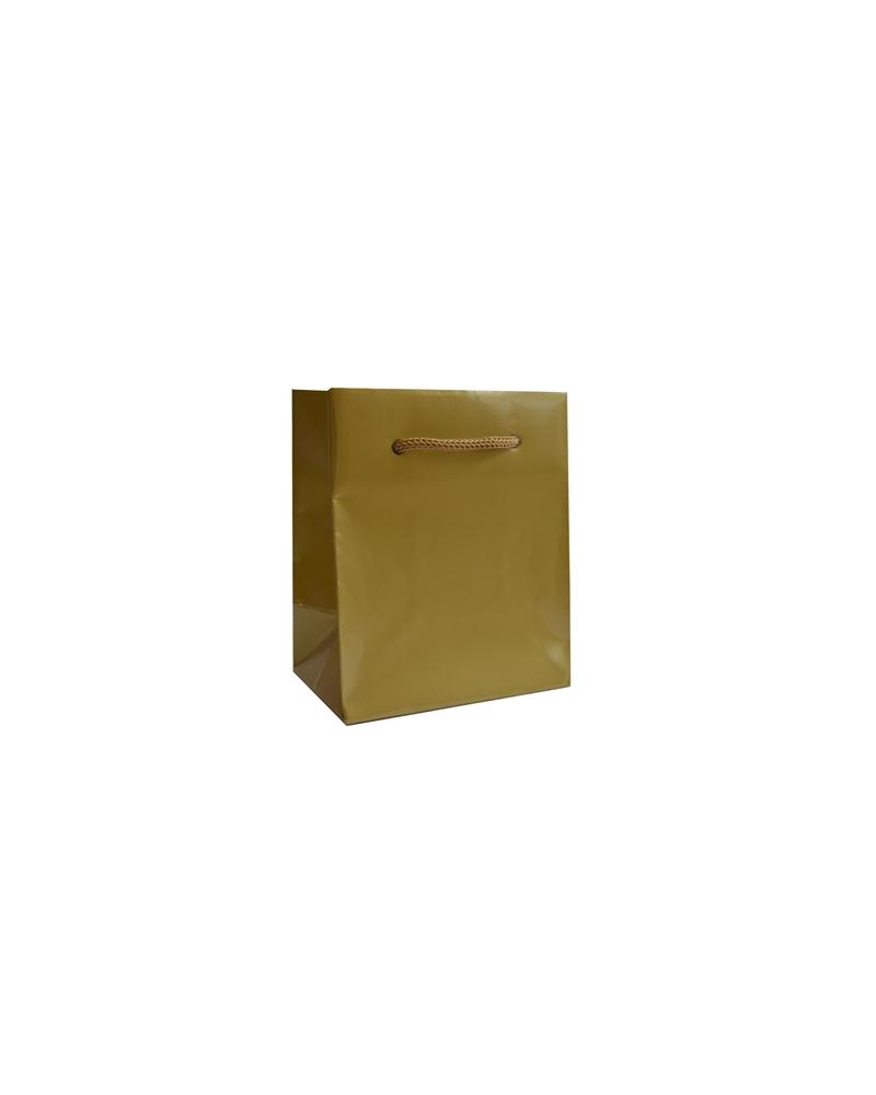 Saco Asa Cordão Gofrado Dourado - Dourado - 10+6.5x12 - SC3264