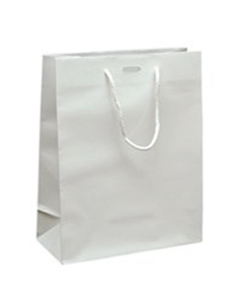 Saco Asa Cordão Branco com Corte para Fita - Branco - 22+10x27.5 - SC1129