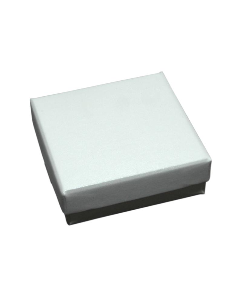Caixa Linha Champanhe p/ Pendentes c/Fita - Branco - 6.6x6.6x2.3cm - EO0582