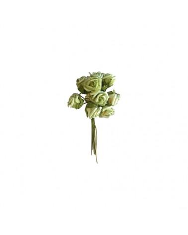Ramo Rosa Pequena Verde Alface - Verde - 11.5cm - DVC0211