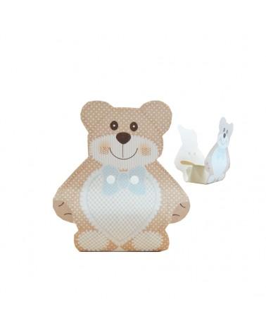 Caixa Criança Teddy Bear Urso Azul - Azul - 60x40x120mm - CX3471