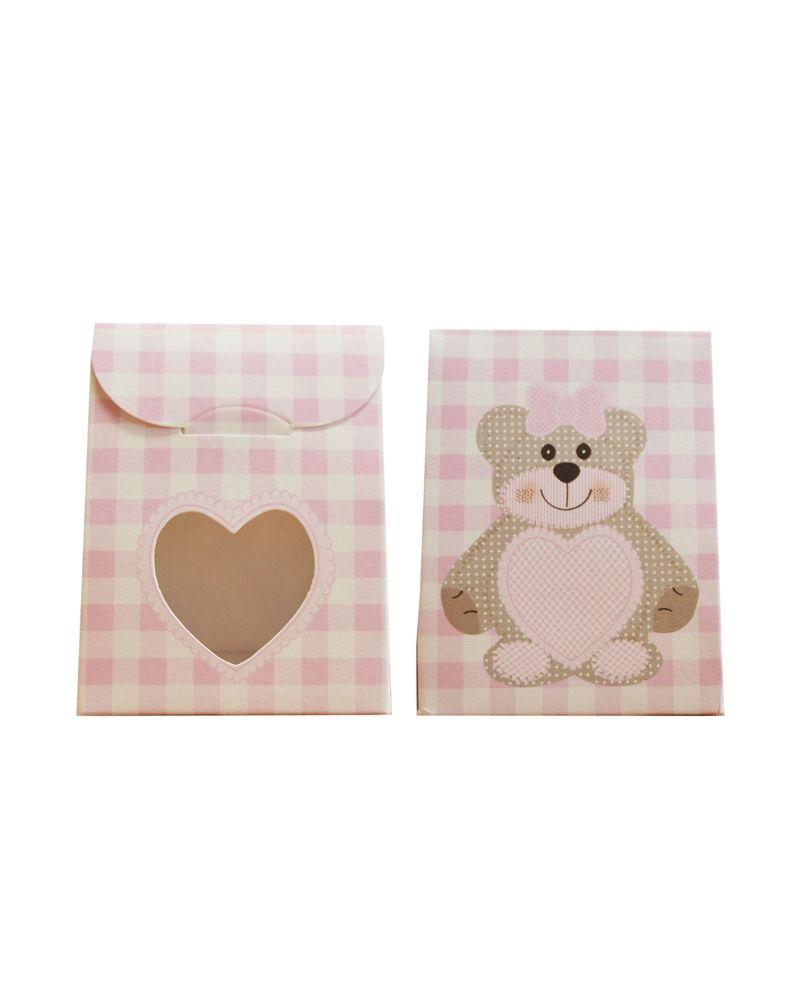Caixa Criança Teddy Bear Rosa Sacchetto c/Fin. - Rosa - 60x35x80mm - CX3470