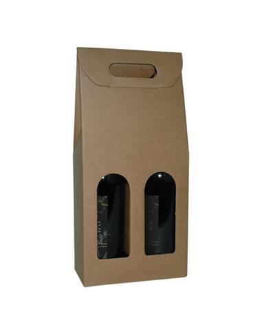 Caixa Avana Scatola para 2 Garrafas - Kraft - 180x90x385mm - CX3488