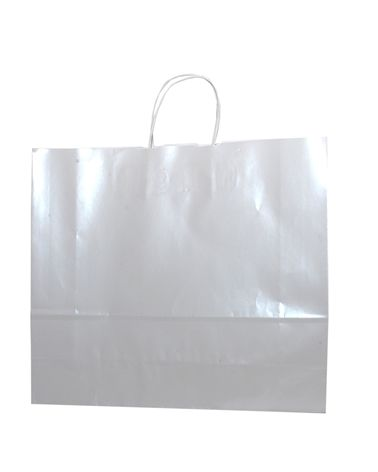 Saco Asa Retorcida Branco Fundo Branco Perola - Branco - 32+13x28 - SC3175