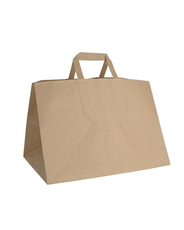 Saco Asa Plana Take Away Kraft Reciclado - Kraft Reciclado - 35+23x25 - SC3029