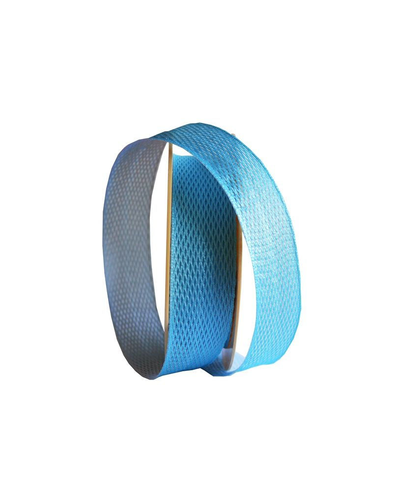 Fita Tecido Dupla Linha Azul 25mm - Azul - 25mmx10mts - FT4845