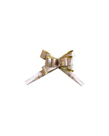 Laço de Puxar Metalizado Beje 19mm (C/50) - Bege - 19mm - LÇ0015