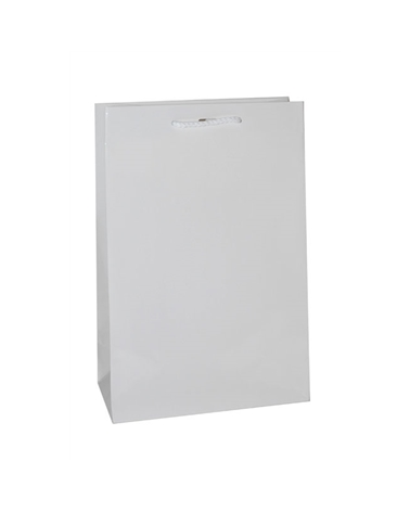 Saco Asa Cordão Branco com Corte para Fita - Branco - 24+12x36 - SC1130